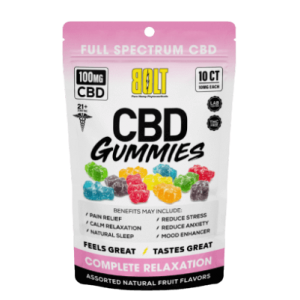 BOLT CBD GUMMIES GUMMY BAG 100 MG - 10 COUNT