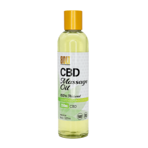 BOLT CBD MASSAGE OIL NATURAL 8oz BOTTLE - 250MG