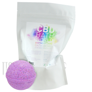CBD BATH WORLD BATH BOMB 50MG HEMP DERIVED CBD - ASSORTED FLAVOR-CBD Topicals-fourseasons-trade