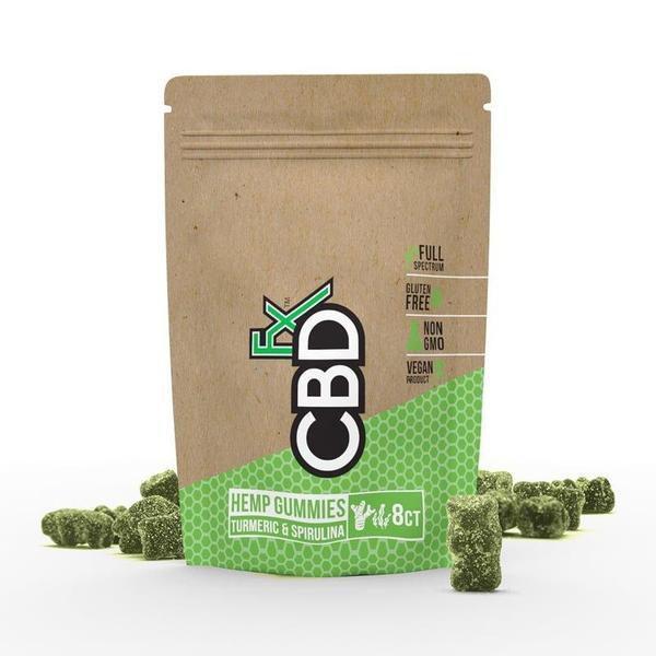CBDFX CBD Gummies with Turmeric & Spirulina 40mg (8ct Pouch)-CBD Gummies-fourseasons-trade