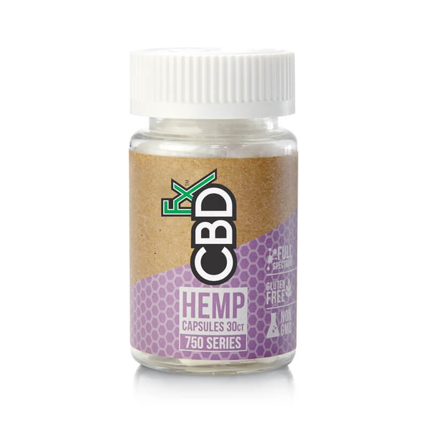 CBDFX CBD Hemp Gel Capsules 750mg 30ct Bottle-CBD Capsules-fourseasons-trade