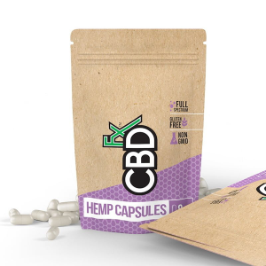 CBDFX Hemp Capsules Pills 200mg 8ct Bottle-CBD Capsules-fourseasons-trade
