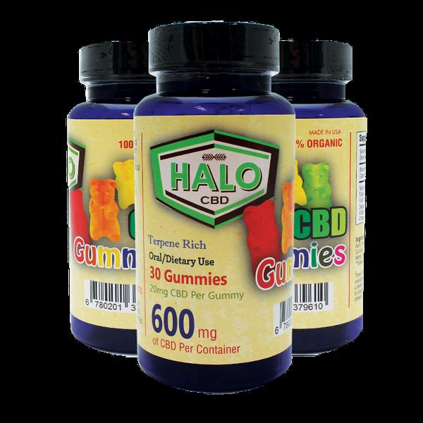 Halo CBD Gummies 600mg - 20 Gummies Each Bottle-CBD Gummies-fourseasons-trade