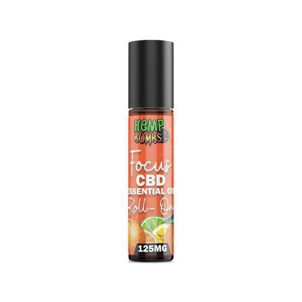 Hemp Bomb Roller 125mg CBD Essential Oil Roller – Focus Blend And Sleep Blend-CBD Topicals-fourseasons-trade