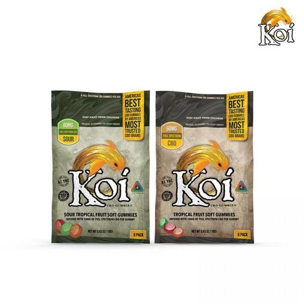 KOI FULL SPECTRUM CBD GUMMIES - 6 PACK / 60 MG-CBD Gummies-fourseasons-trade