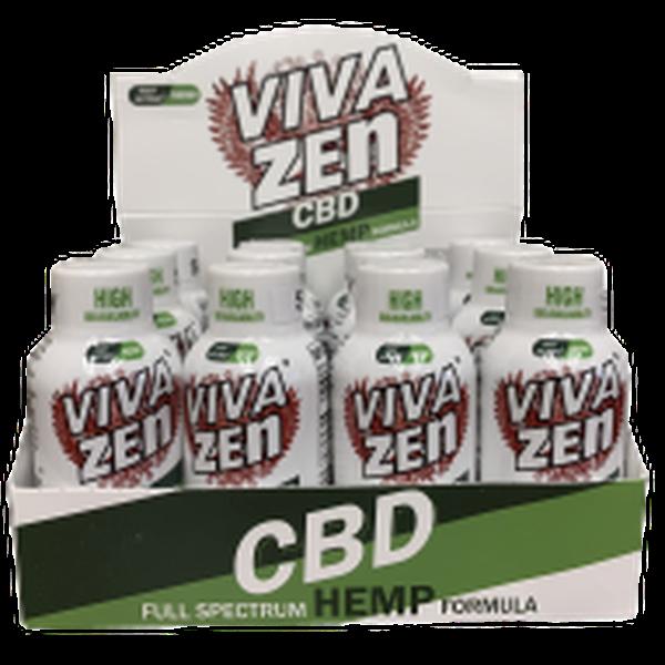 VIVA ZEN CBD SHOTS 1.9oz CBD Full Spectrum Shot - 12 in box-CBD Tinctures-fourseasons-trade