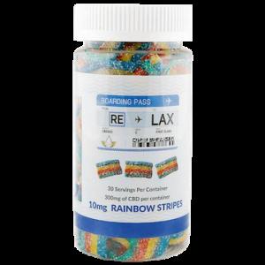 RELAX CBD 10mg Rainbow Stripes