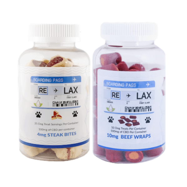 RELAX CBD 100mg Pet Treats - 25 Count in Box - Dog Treat OR Cat Treat