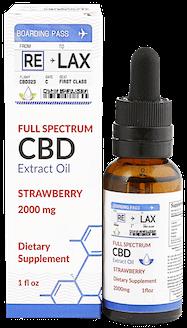 RELAX CBD Oil Tincture - Strawberry 2000mg