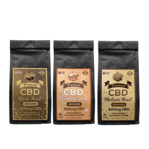 SUN STATE CBD GROUND COFFEE 300MG - 8oz IN PACK