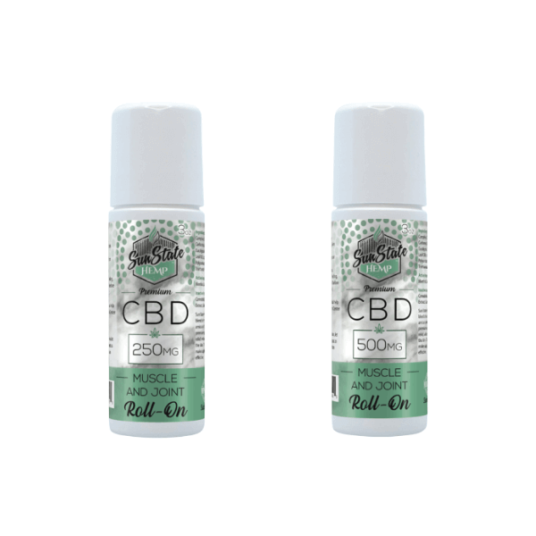 SUN STATE CBD ROLL-ON MUSCLE AND JOINT CREAM - 250MG 500MG