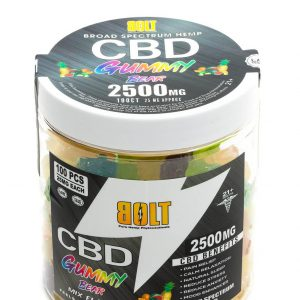BOLT CBD GUMMIES Fruit Flavored GUMMY BEAR 2500MG - 100CT