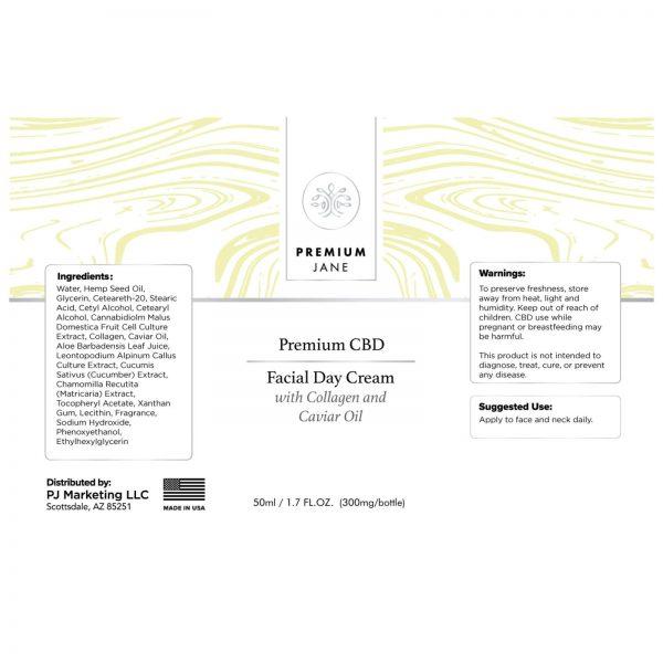 PREMIUM JANE CBD TOPICAL FACIAL DAY CREAM 50ML - 300MG